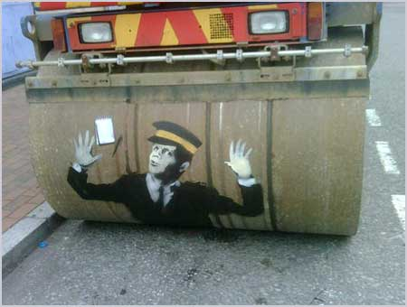 Banksy-steam-roller-traffic-warden